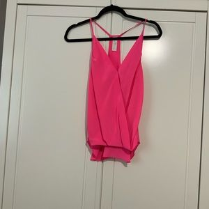 NWOT Amanda Uprichard silk tank pink small